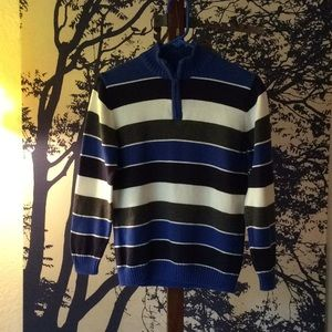 Other - 1/2 Zip, Striped, cotton sweater, No label